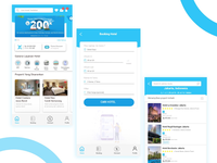 Mobile app booking hotel
