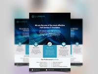 Flyer design for company presentation