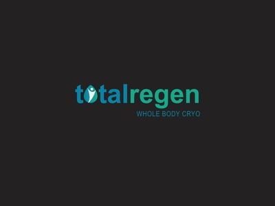 Cryotherapy Wellness Logo Design for Total Regen