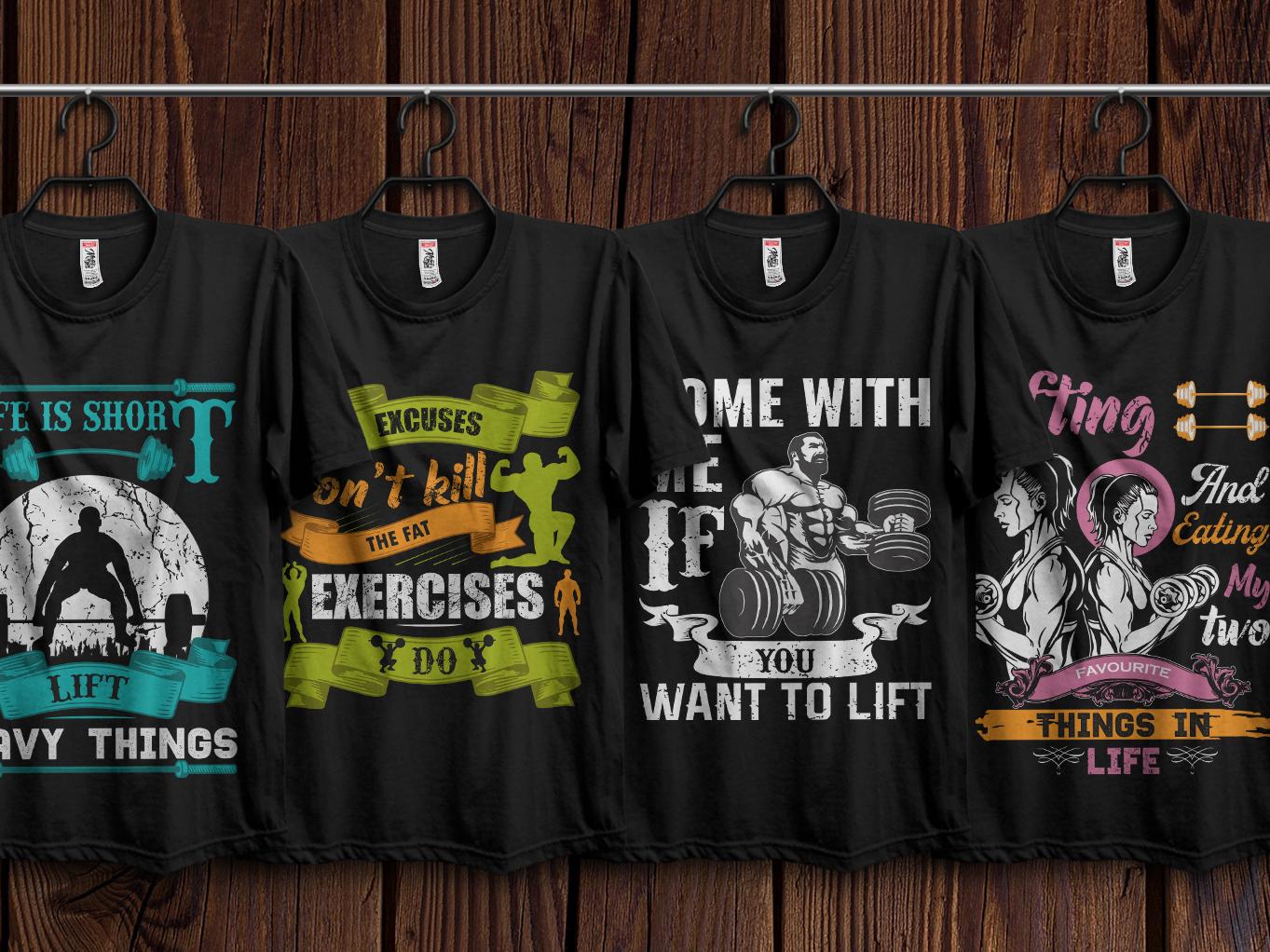 Gym T Shirts Design Bundle By Md Baktiar Uddin On Dribbble