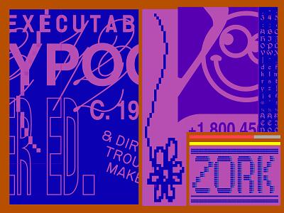 Optimist Sketch 2 vga zork doodle typography graphic design branding