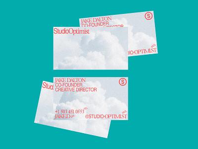 Optimist Sketch 3 studio doodle business card graphic design branding