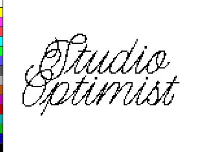 Optimist Sketch 4 16bit lofi vga doodle illustration logo graphic design branding