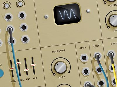 still getting synthy 🎛️ wip ui synthesizer synth plugmeinbaby music modular illustration