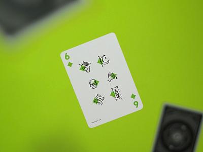 six of diamonds diamonds cards playing icon illustration tarot dfw aiga dallas