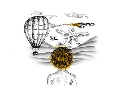 Adventure sketch adventure illustration art