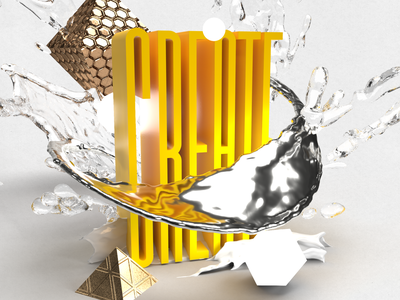 CREATE 3d yellow orange adobe dimension graphicdesign 3d art