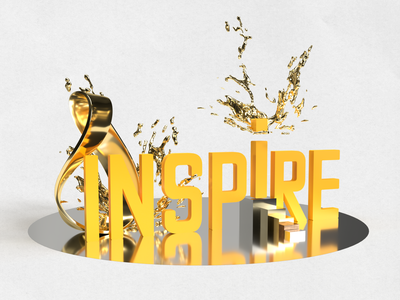 INSPIRE create yellow orange adobe dimension graphic design graphic inspire 3d art 3d