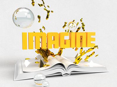 IMAGINE 3dillustration orange create imagine 3d artist adobe dimension 3d art 3d