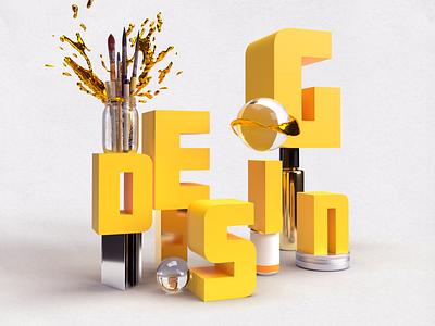 DESIGN adobe dimension 3d composition typography