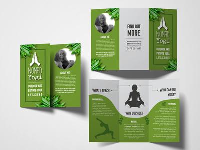 Brochure Mockup Yoga Business