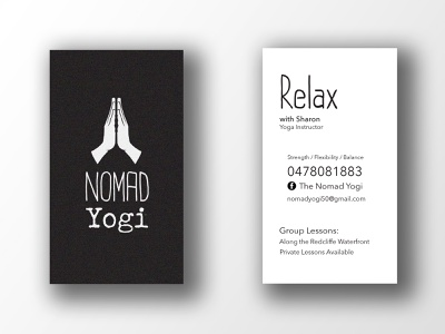 Business Card for Yoga Studio double sided business card print adobe photoshop adobe indesign mock up business card business card mockup yoga yoga logo logo branding