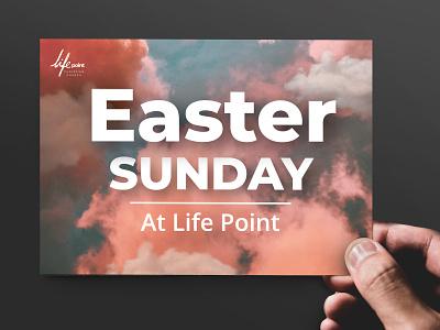 Easter Sunday A6 Mockup postcard adobe photoshop mockup event easter graphic design invitation card print a6 church