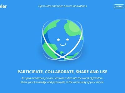 Scapeler - website collaborate globe earth illustration site website scapeler