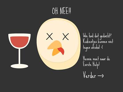 Chick story illustration