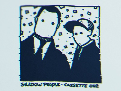 Shadow People mixtape cover distortion pencil wheely cover album hiphop