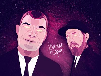 Shadow People Album Cover shadow people illustration album hiphop