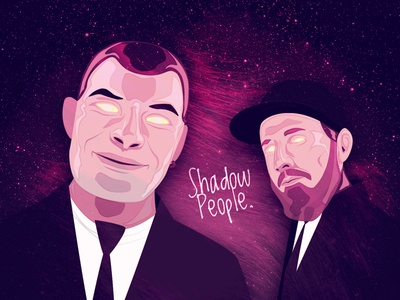 Shadow People Album Cover shadow people illustration album hiphop