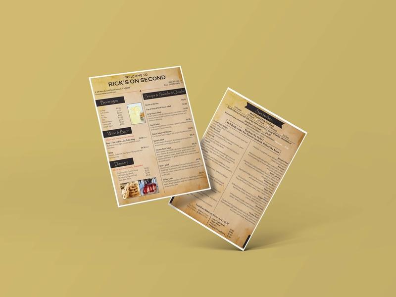 Restaurant Flyer sandwich vintage brochure mockup brochure poster beverages flyer restaurant food menu menu menu design