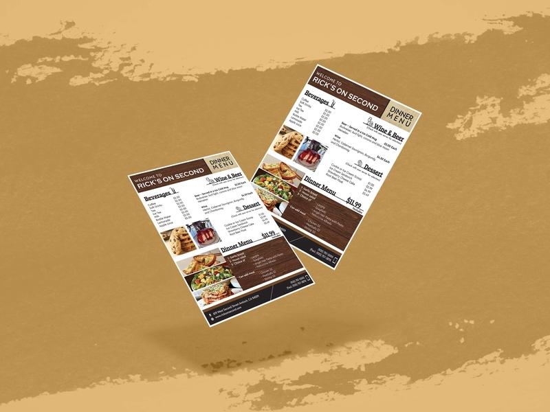 Restaurant Flyer restaurant menu brochure graphic design menu design flyers food dinner menu poster flyer card layout menu