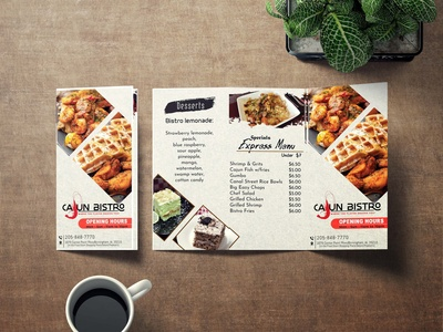 Restaurant Menu | Tri-fold Brochure