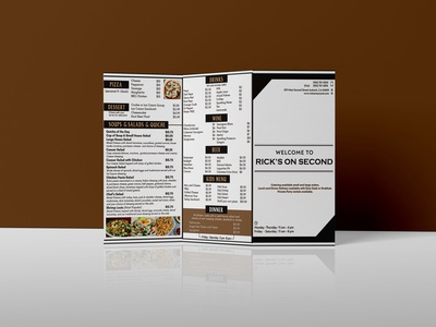 Simple Restaurant Menu Brochure