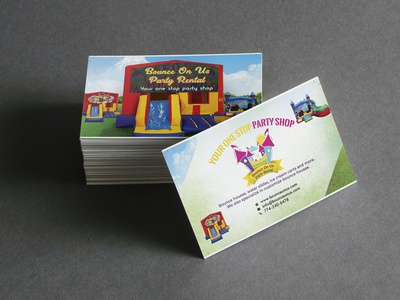 Visiting card for Party Shop