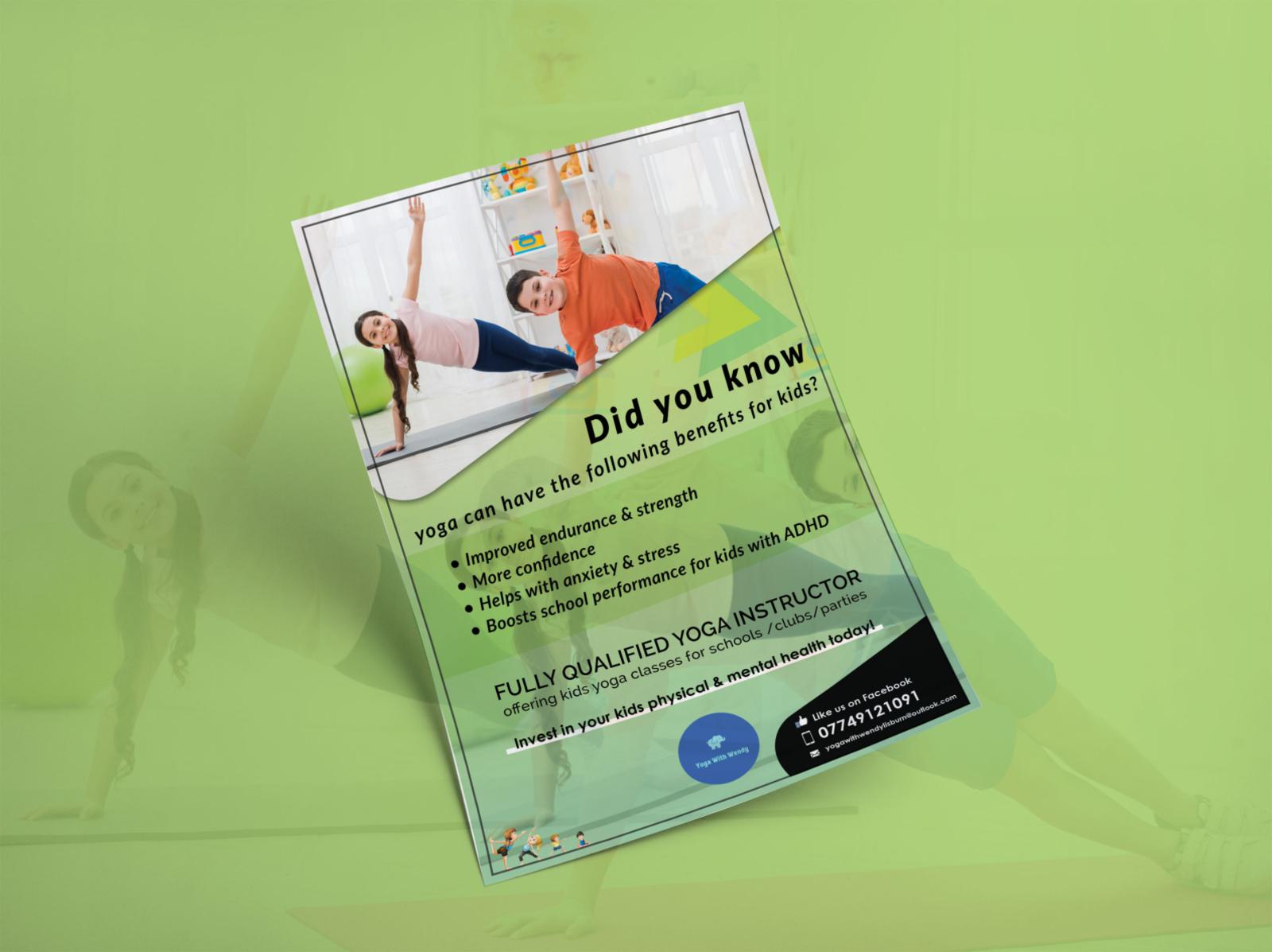 Poster Design Yoga Academy By Asmi Tank On Dribbble