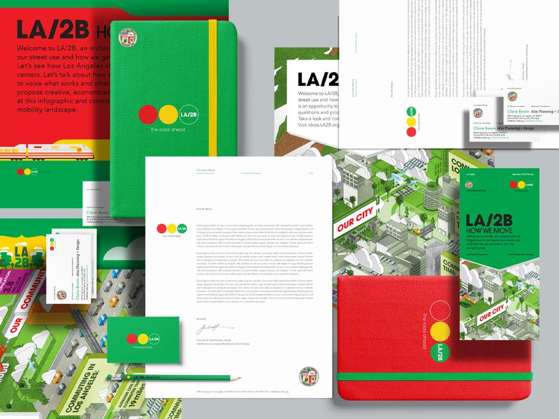 LA2B Project city branding inforgraphic brand architect artdirection typography branding