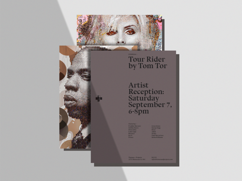 Tour Rider Exhibition demands dots pixels unmask illustration artist icons mapping minnesotastreetproject san francisco art exhibition