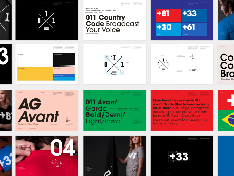 011 Country Code Brand Guidelines product development strategy communications creative lead design brand guidelines typography digital
