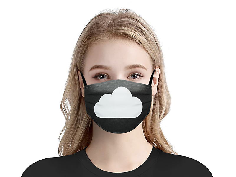 The Cloud breathe simplicity creative lead typography simple facemask black mask