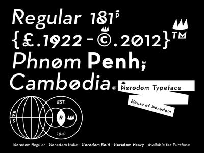 Norodom Typeface khmer cambodia king design modern family san serif fonts typface modern clean typedesign typography