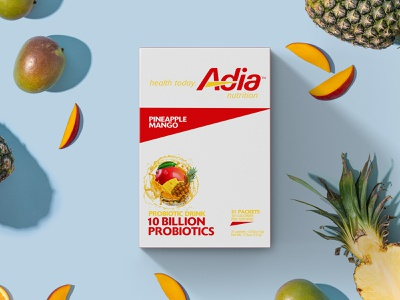 Adia Nutrition_ drink mix prebiotics healthy drinks package design creative lead typography branding package adia nutrition