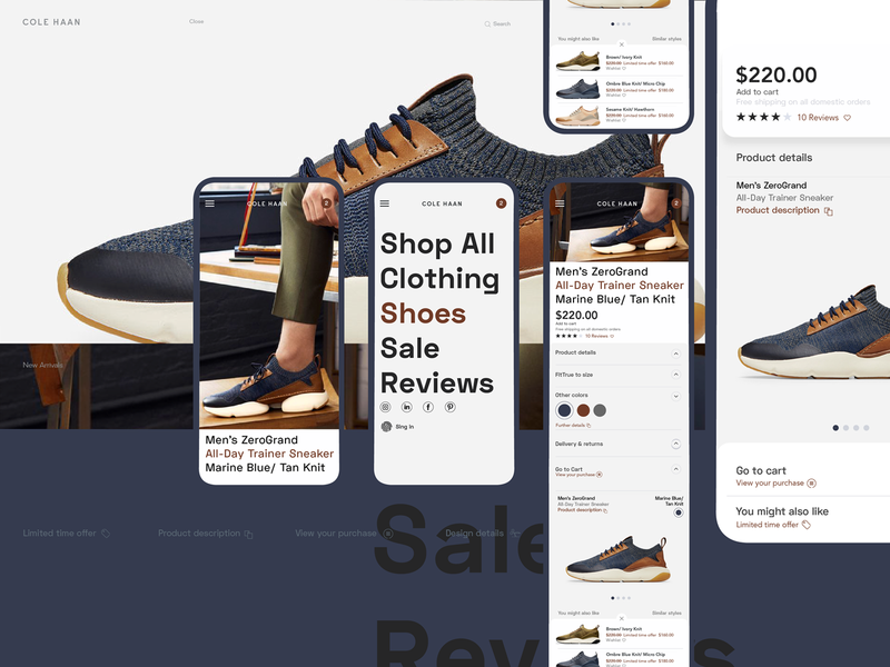 Cole simplicity shopping cart website apparel mobile ui uxdesign fashion clean