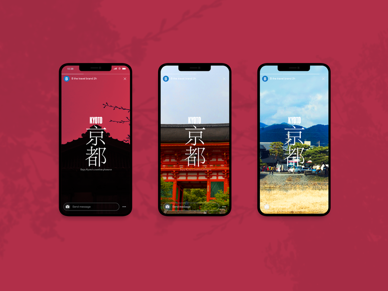 B Travel timeline strategy travel uidesign uxdesign digital engagement instagram stories mobile