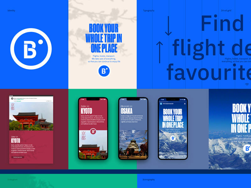 B Travel Brand iconography travel creative lead user experience digital strategy typography branding uidesign brand guide uxdesign