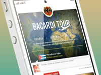 Some Web bacardi's tab on iphone