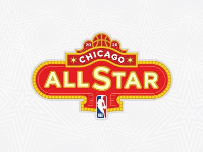 2020 NBA All Star Chicago Branding sporting event event branding basketball court black red nba poster lebron basketball sports design sports logo design sports logos sports logo sport logo sports branding branding sports nba all star nba