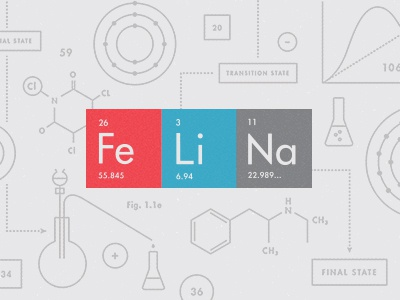 Felina branding bad breaking bad red blue gray chemistry formula formulas texture textbook periodic table