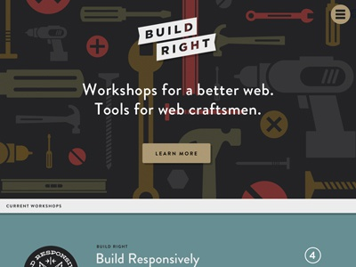 Build Right website tools workshop workshops build right build responsively flat