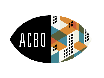 ACBO Branding illustration logo city buildings eye
