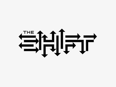 The Shift the shift shift movement arrows negative space white black