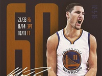Klay Thompson goes for 60