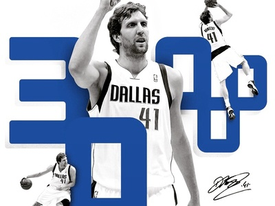 30,000 Points for Dirk basketball dallas mavericks dallas mavericks black and white blue scoring dirk nowitzki nba