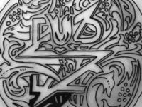 Logo fun nature floral white black ink pen drawing nouveau sparkbox