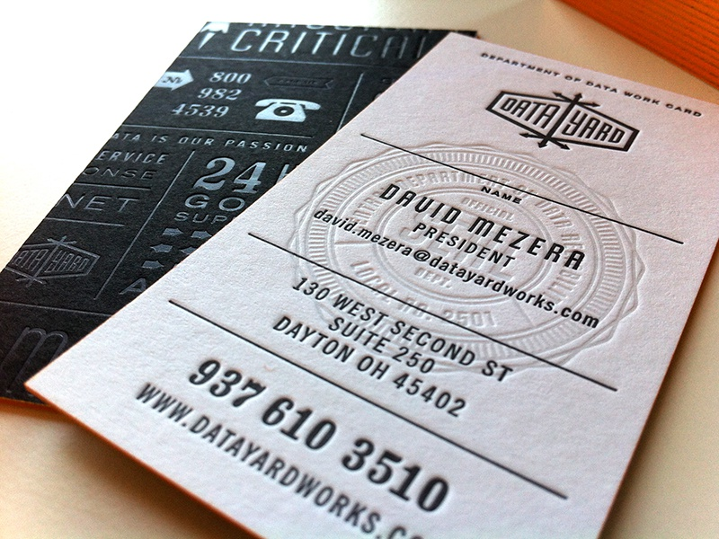 Seal on Business Cards seal badge business card letterpress