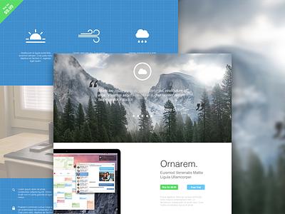 Web Design Template - Yosemite photoshop illustrator sketch ui ux web web site design mockup