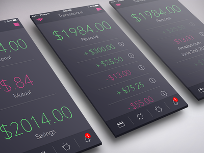 Bank of America App for iOS 8 sketch design photoshop ios mockup ui illustrator iphone apple layout ux ios8