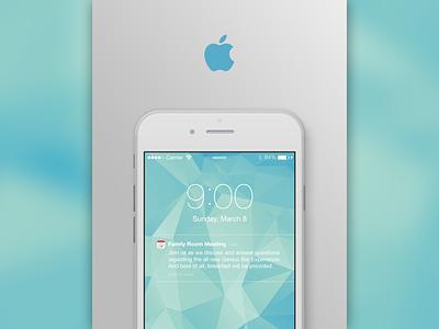 Apple Inc. - Family Room Meeting Flyer apple apple store retail print design mockup flyer